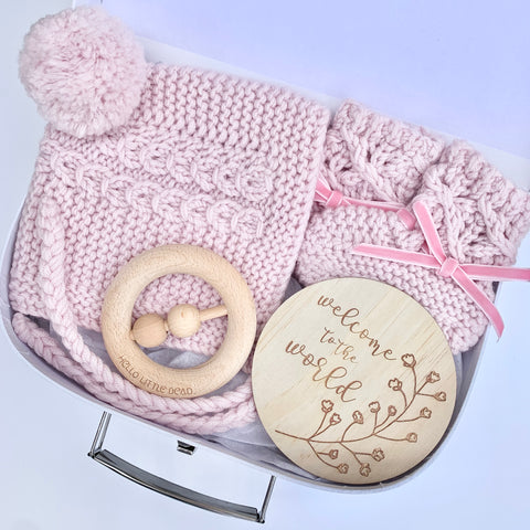Pink Petite Winter Baby Box
