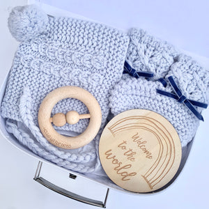 Blue Petite Winter Baby Box