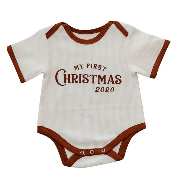 My First Christmas Romper by Piper Bug
