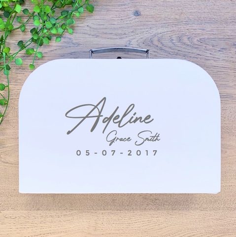 Script Full Name + Birthdate Design