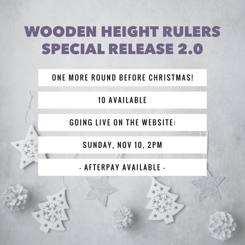 Special Release 2.0 - Custom Wooden Height Ruler