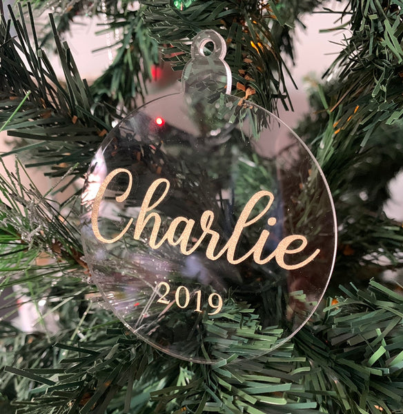 Personalised Acrylic Christmas Decorations