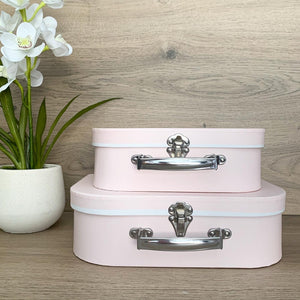 Baby Pink Suitcase Boxes