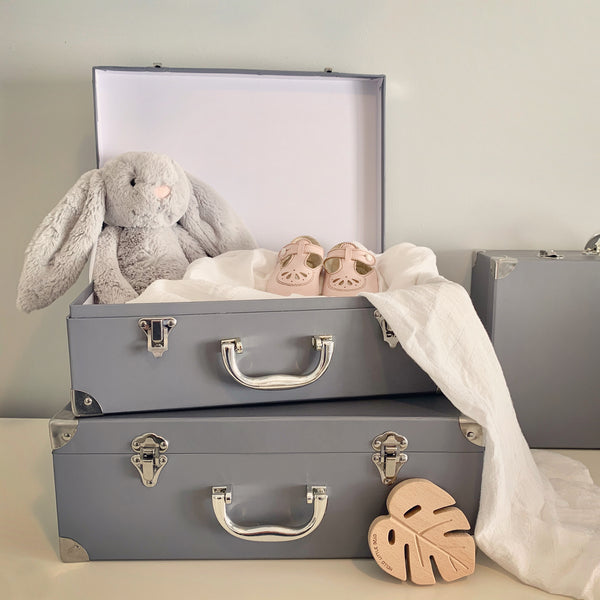 Grey Suitcase Boxes