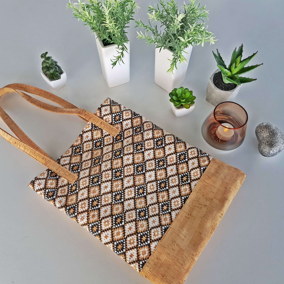 Vegan 100% Natural Leather Tote Bag