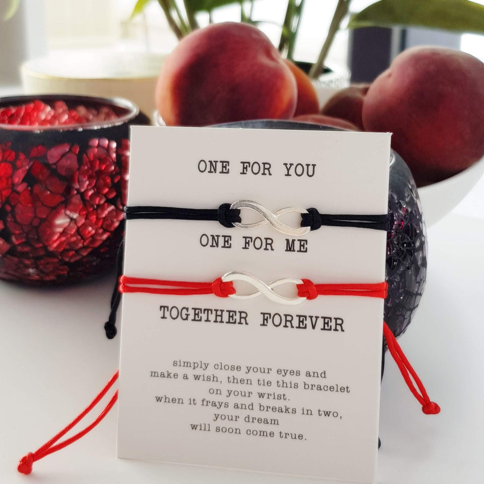 Together Forever thank you card bracelet