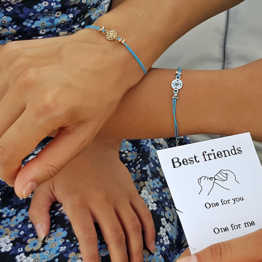 girls with Best Friends Gift Card Bracelets on their wrists