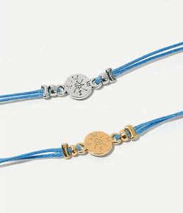 Best Friends Gift Card Bracelets compass charms