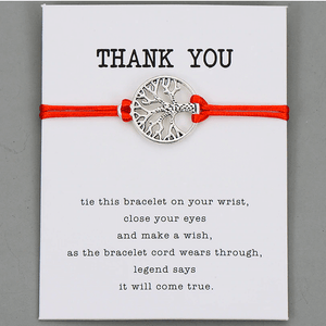 Friendship Card Bracelet thank you