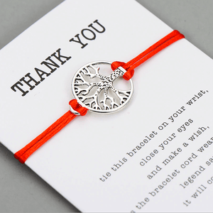 Tree Of Life Thank You Card Bracelet