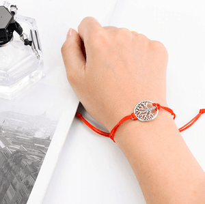 Red string thank you bracelet