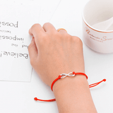 Together Forever thank you card bracelet red string