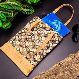 vegan leather cork tote