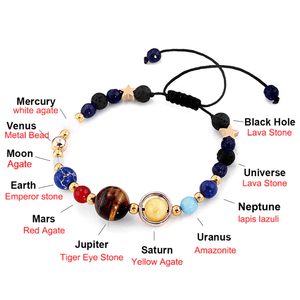 Solar system bracelet with dimensions