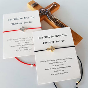 God cross bracelet cards