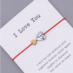 I Love You Double Heart Bracelet Gift Card