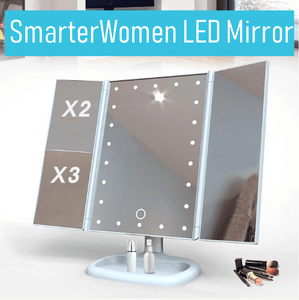 white led mirror closed up