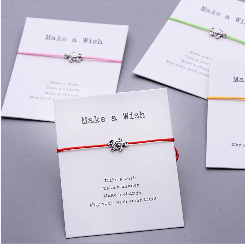 Lucky Sea Turtle Gift Card Red String Bracelet