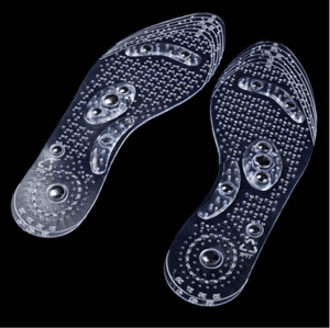 pair of magnetic gel insoles