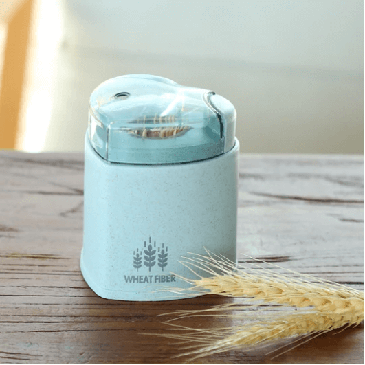 Wheat fiber automatic eco toothpick container