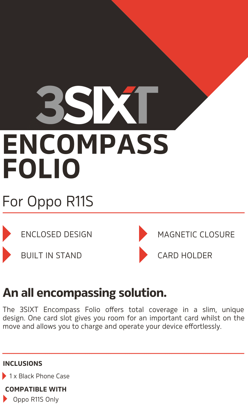 R11s Encompass Folio Case - 3SIXT