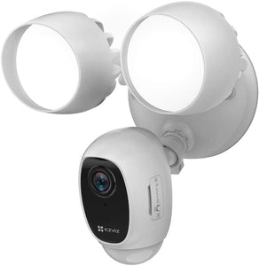 EZVIZ LC1C Security Camera and Floodlight Wireless Outdoor 1080P w Alarm CS-LC1C - White