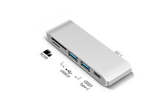 Type-C Card Reader & Hub (5 Port)