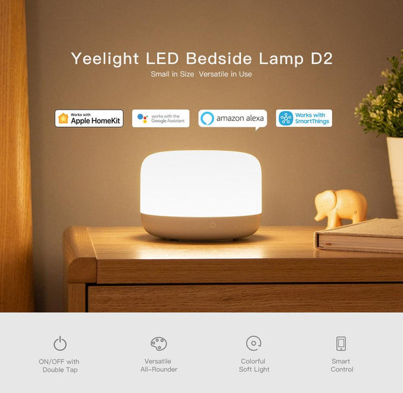 Yeelight LED Bedside Lamp D2 (Color Change, Touch Dimmable, Table Reading, Night Light)