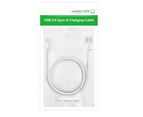 UGREEN 20728 USB lighting cable with ABS case 1M white