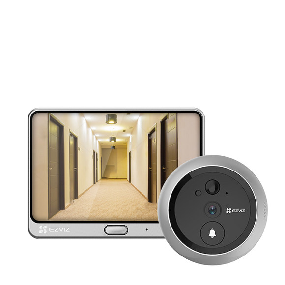 EZVIZ Wire-Free Two-in-one Video Doorbell and Door Viewer DP1C