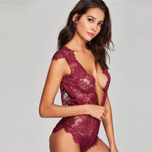 Eniko Eyelash Lace Transparent Teddy