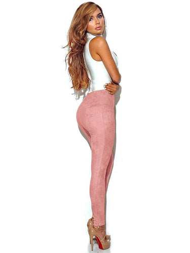 Showstopper High Waist Skinny Pant - Pink