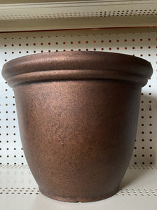 DECORATIVE POT, ROUND DISTRESSED COPPER