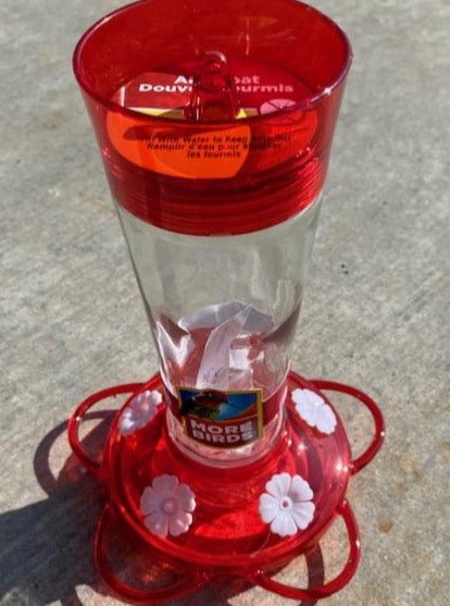 HUMMINGBIRD FEEDER, GLASS