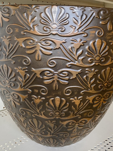 DECORATIVE POT, SWIRL