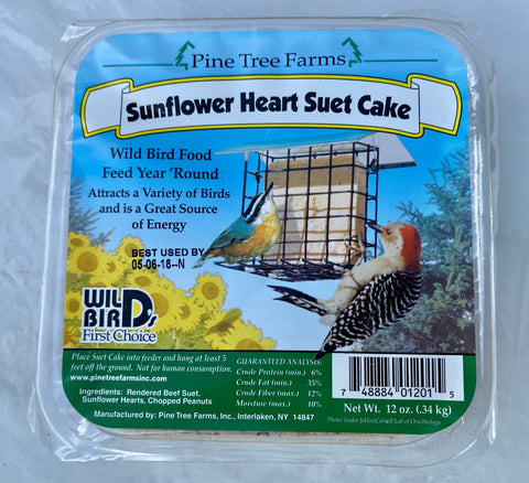 BIRD FEED, SUNFLOWER HEART SUET CAKE