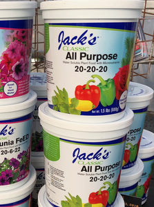 FERTILIZER, JACK'S ALL PURPOSE 20-20-20