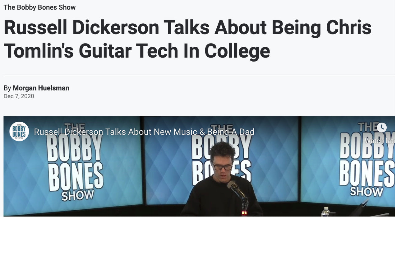 Russell Dickerson Talks About Being Chris Tomlin's Guitar Tech In College