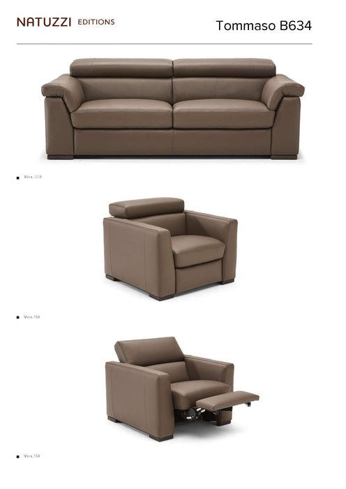Natuzzi Tommaso Sectional B634 - leatherfurniture