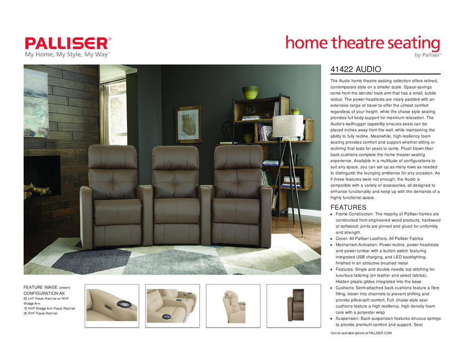 Palliser Audio Theater - leatherfurniture