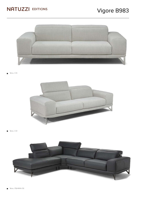 Natuzzi Vigore Sectional B983 - leatherfurniture