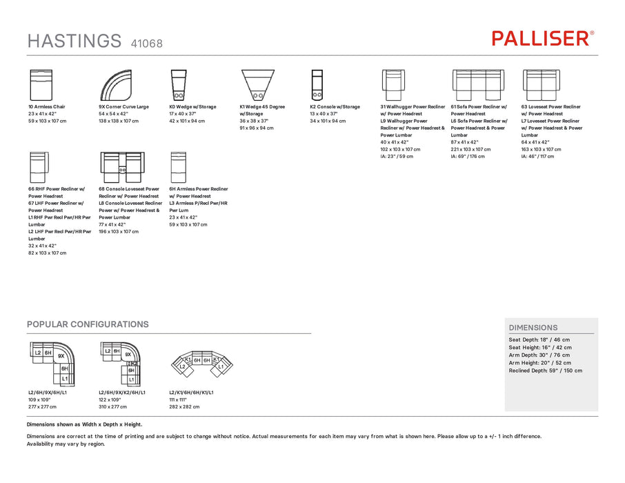 Palliser Hastings Sectional 41068