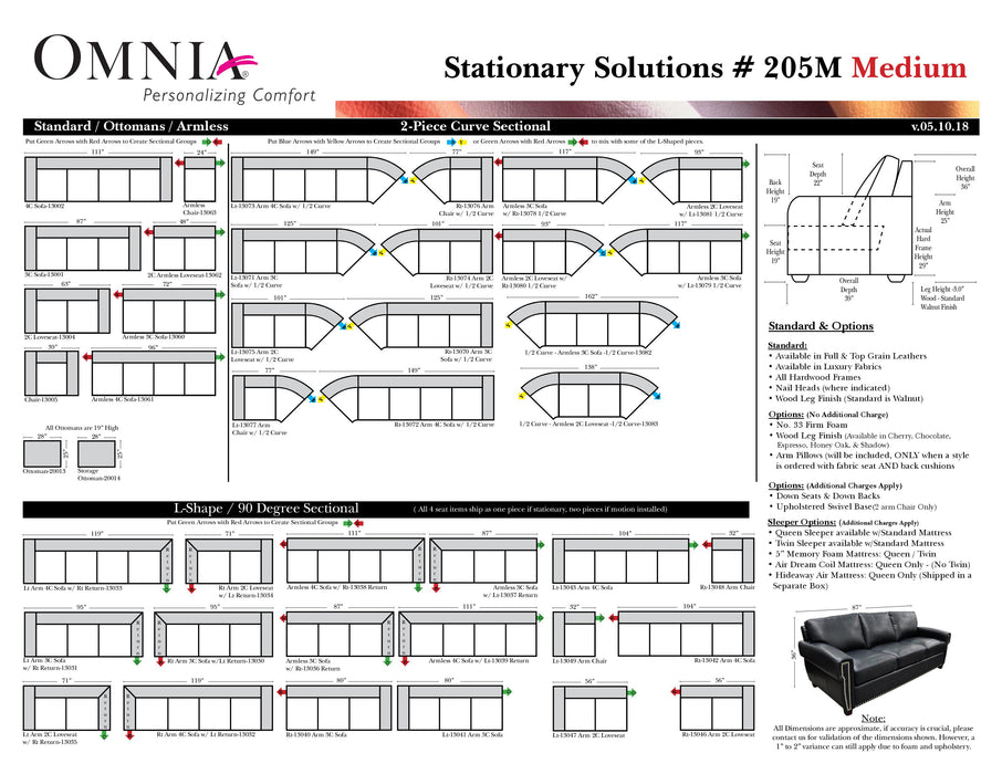 Omnia Stationary Solutions 205 - leatherfurniture