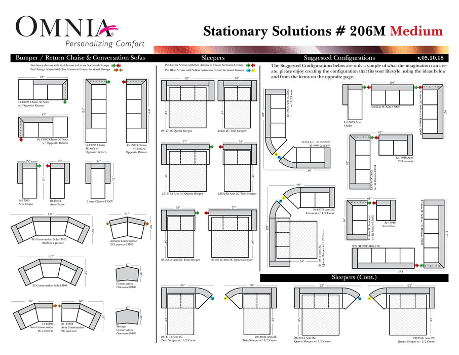 Omnia Stationary Solutions 206 - leatherfurniture
