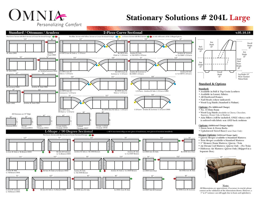Omnia Stationary Solutions 204 - leatherfurniture