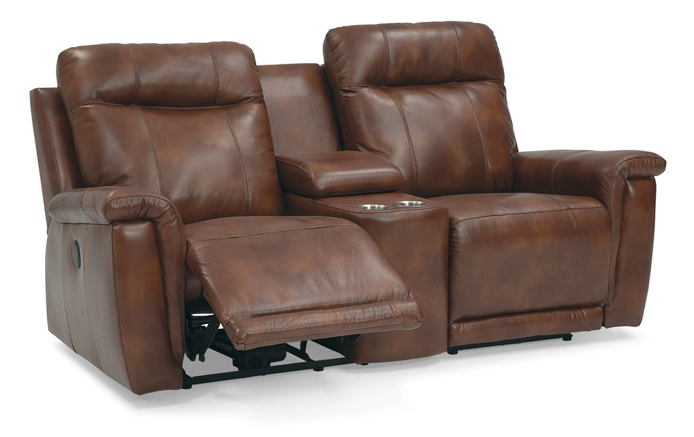 Westpoint - Loveseat w/ home theater wedge reclining rear view