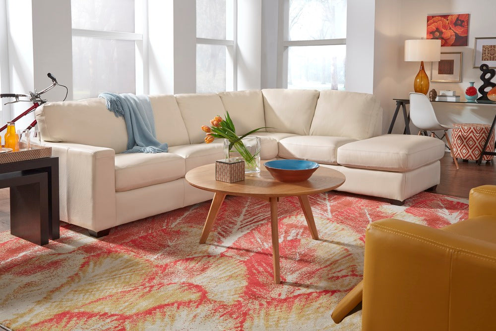 Westend - example living room w/ left arm chaise and right arm sofa