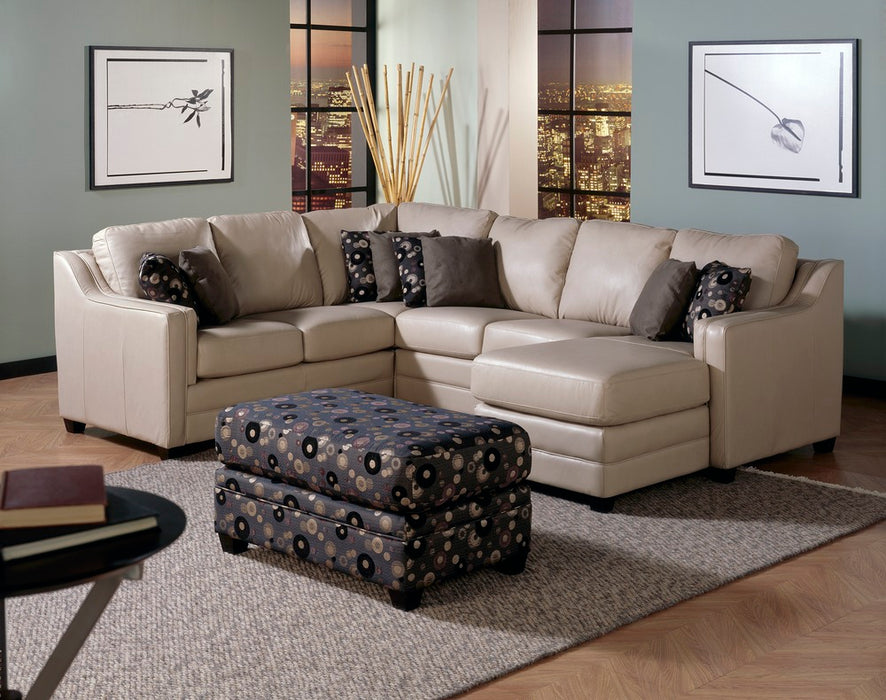 Corissa - example living room w/ Left Arm Sofa, Right Arm Chaise