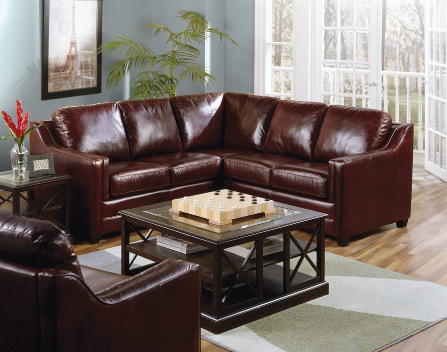 Corissa - example living room w/ Left Arm Sofa W/ Return , Right Arm Loveseat