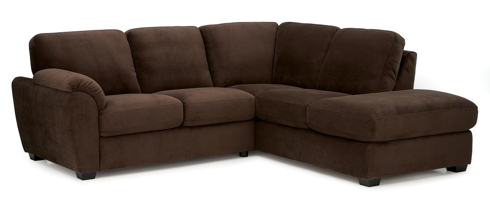 Lanza - Left Arm Sofa, Right Arm Chaise front view